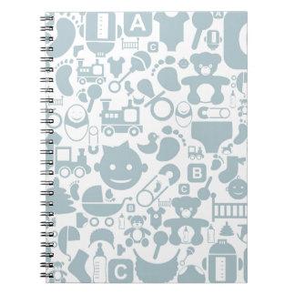 Cadernos Espiral Bebê um background2