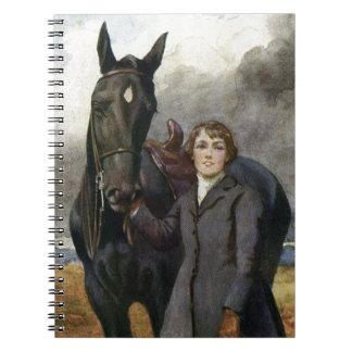 Cadernos Espiral Beleza preta - escolheu-me para seu cavalo