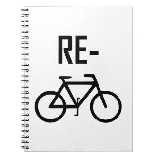 Cadernos Espiral Bicicleta da bicicleta do reciclar