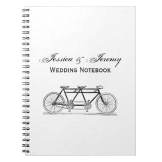 Cadernos Espiral Bicicleta do vintage construída para