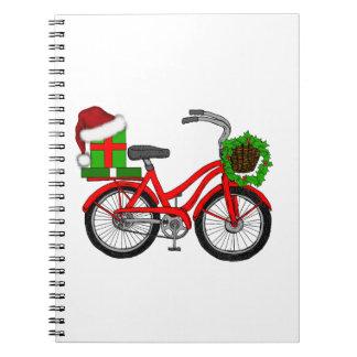 Cadernos Espiral bicicleta do xmas
