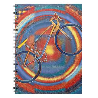 Cadernos Espiral bicicleta trippy
