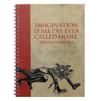 Cadernos Espiral Bloco de desenho da imaginação de Vivian