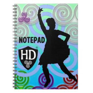 Cadernos Espiral Bloco de notas #1 do dançarino das montanhas