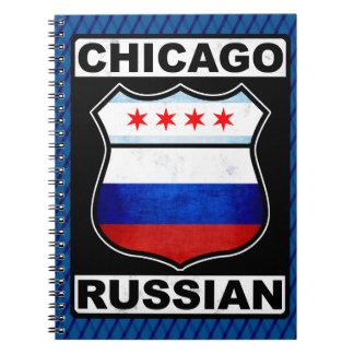 Cadernos Espiral Bloco de notas do americano do russo de Chicago