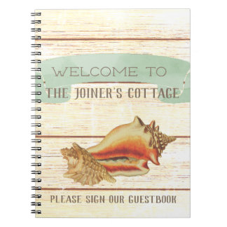 Cadernos Espiral Boa vinda personalizada rústica da casa de praia