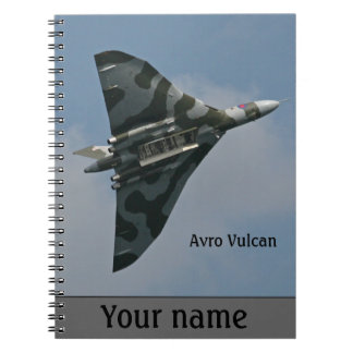 Cadernos Espiral Bombardeiro de Avro Vulcan personalizado