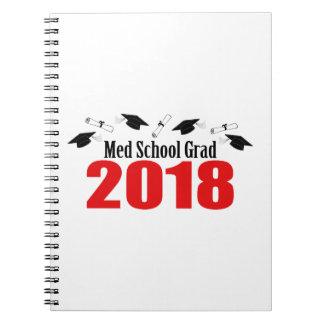 Cadernos Espiral Bonés e diplomas do formando 2018 da escola do MED