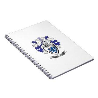 Cadernos Espiral Brasão da crista da família de Galloway