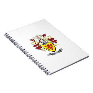 Cadernos Espiral Brasão da crista da família de Vaughn