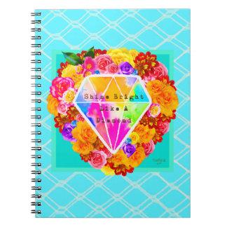 Cadernos Espiral Brilho brilhante como um diamante