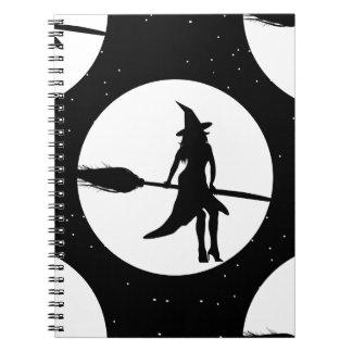 Cadernos Espiral bruxa do Dia das Bruxas