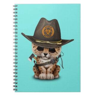 Cadernos Espiral Caçador bonito do zombi de Cub do leopardo