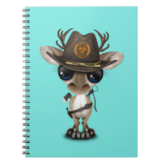 Cadernos Espiral Caçador do zombi da rena do bebê