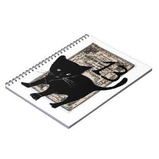 Cadernos Espiral Caderneta à espiral Gato preto e 13