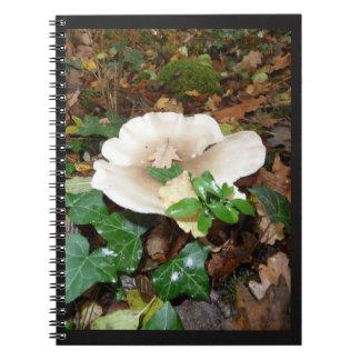 Cadernos Espiral caderneta Outono cogumelo folhas madeira espuma