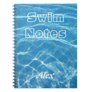 Cadernos Espiral Cancele a natação aquática azul legal da água da p