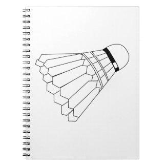 Cadernos Espiral Canela do Badminton