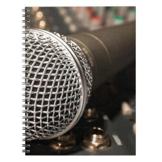 Cadernos Espiral Canto do cabo do microfone do cabo do misturador