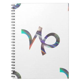 Cadernos Espiral Capricórnio do holograma