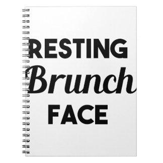 Cadernos Espiral Cara de descanso da refeição matinal