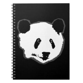 Cadernos Espiral Cara do urso de panda gigante