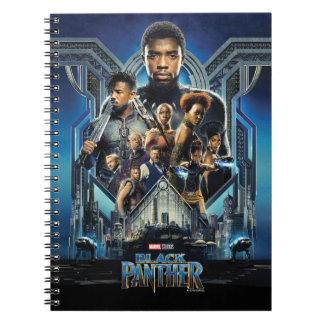 Cadernos Espiral Caráteres da pantera preta | sobre Wakanda