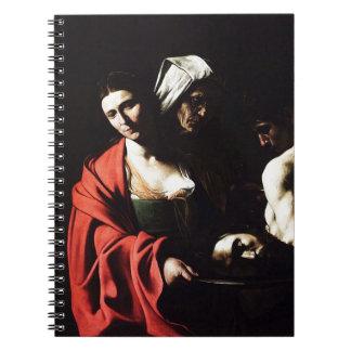 Cadernos Espiral Caravaggio - Salome - trabalhos de arte barrocos