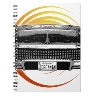 Cadernos Espiral Carro clássico