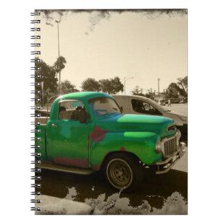 Cadernos Espiral Carro verde velho