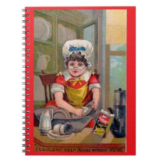 Cadernos Espiral Cartão de comércio do Victorian para o sabão de