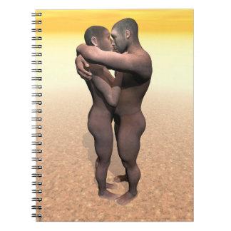 Cadernos Espiral Casal de homo erectus - 3D rendem
