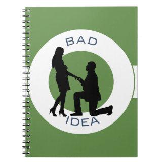 Cadernos Espiral Casamento, funcionamento longe deste