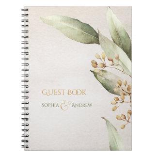 Cadernos Espiral Casamento rústico do vintage botânico elegante das