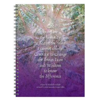 Cadernos Espiral Cedro de incenso da serenidade