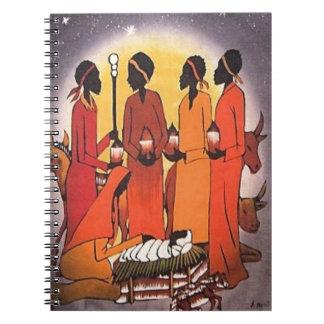 Cadernos Espiral Cena africana da natividade do Natal