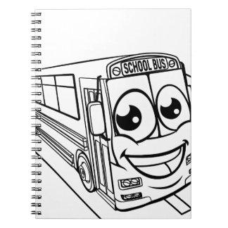 Cadernos Espiral Cena da mascote do personagem de desenho animado