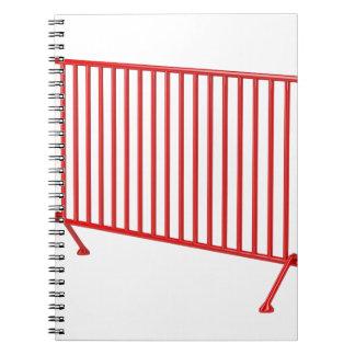 Cadernos Espiral Cerca móvel vermelha