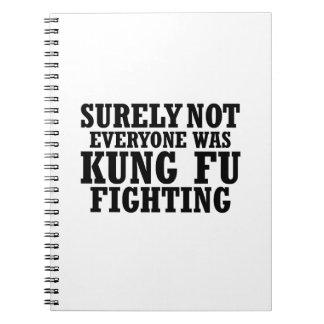 Cadernos Espiral Certamente não todos era luta engraçada de Kung Fu
