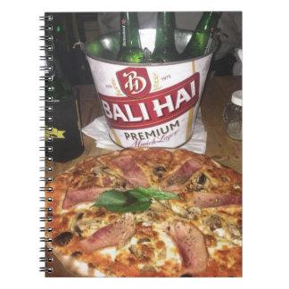 Cadernos Espiral Cerveja e pizza de Bali