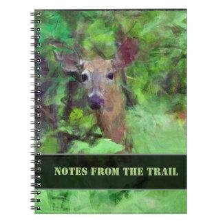 Cadernos Espiral Cervos de Whitetail na pintura das madeiras