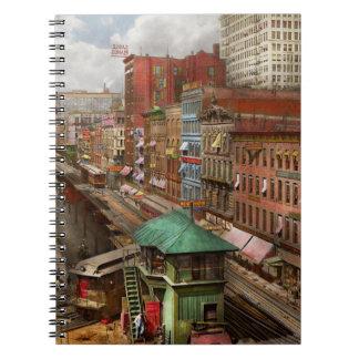 Cadernos Espiral Cidade - Chicago - fileira 1907 do piano
