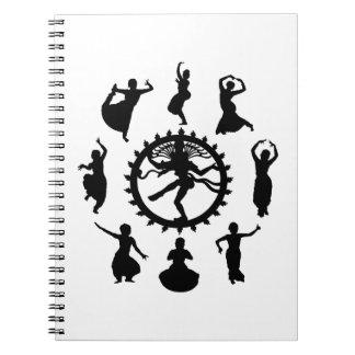 Cadernos Espiral Círculo da dança indiana