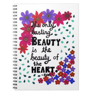 Cadernos Espiral Citações inspiradas florais lunáticas bonitos da
