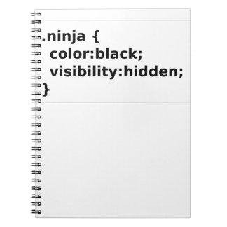Cadernos Espiral Classe do CSS do codificador de Ninja