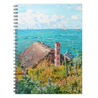 Cadernos Espiral Claude Monet a cabine em belas artes do