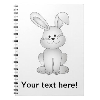 Cadernos Espiral Clipart branco do coelho