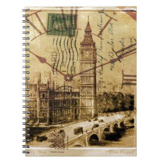Cadernos Espiral Clocktower ben grande da ponte da torre de Londres