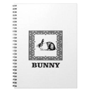 Cadernos Espiral coelho preto e branco