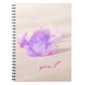Cadernos Espiral coleção floral